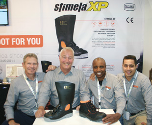 Proudly South African! The Neptun Boot team launched two new products: the Stimela XP gumboot and Strident safety boot.