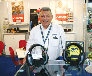 Elvex launched a bevy of new products and Jose Montalvan, director Latin America, reported lots of interest from visitors.